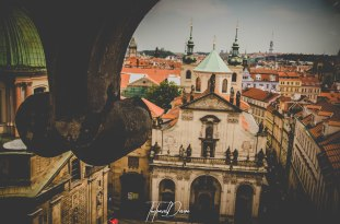 View from the tower at Charles Bridge