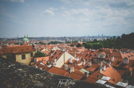 Red roofs of Prague