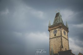 Church tower in Old Town, Prague